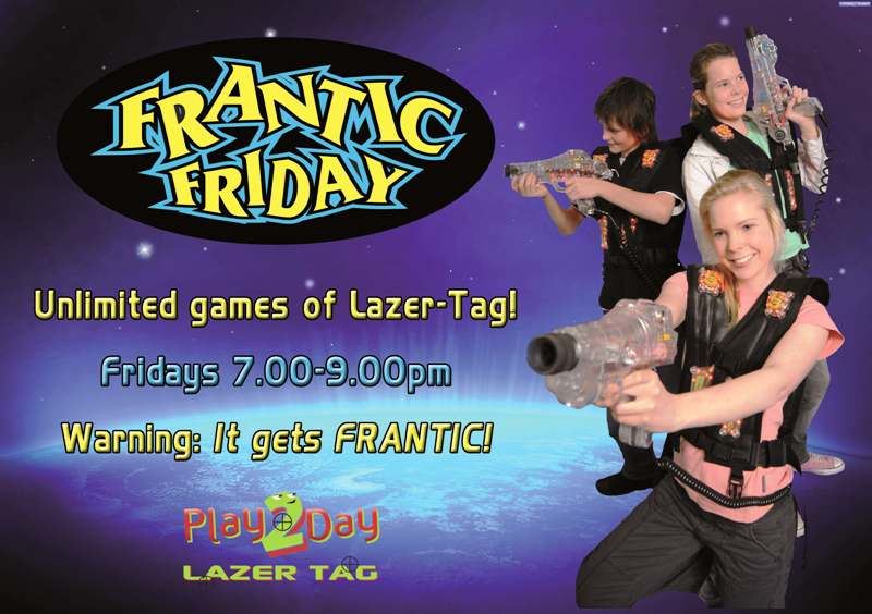 Frantic Friday Lazer-Tag games are adrenalin filled fun