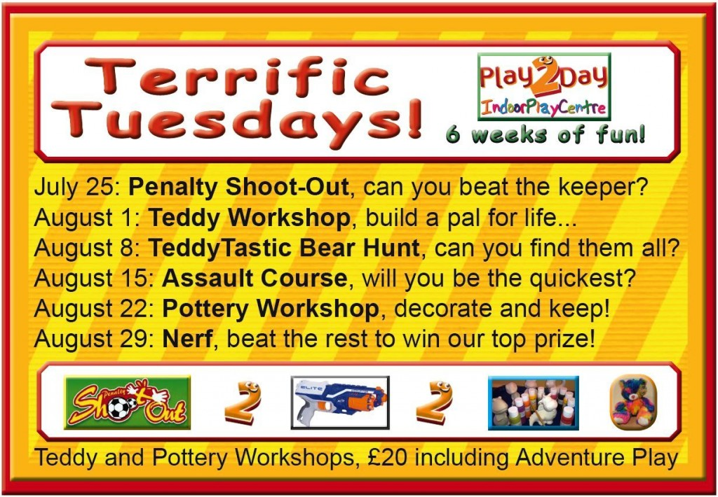 Play2Day Terrific Tuesdays